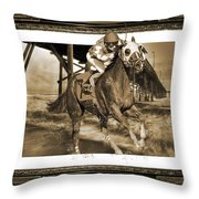 And Away We Go Throw Pillow by Betsy Knapp