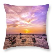 And Every Sunset Will Bring You That Much Nearer... Throw Pillow