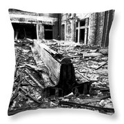 And It All Fell Down Throw Pillow