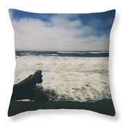 And It Goes On Throw Pillow