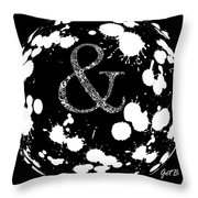 And Sign 2 Splashes Sphere  Throw Pillow