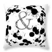 And Sign Splashes Sphere  Throw Pillow