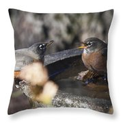 And So She Says Throw Pillow