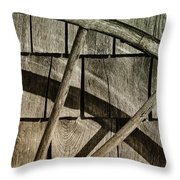 And The Big Wheel Goes Around Throw Pillow