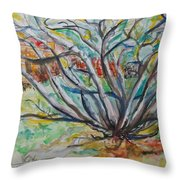 And The Bush Was Not Consumed Throw Pillow
