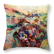 And The Earth Opens Its Mouth Throw Pillow