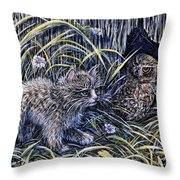 And The Grasshopper Says.. Owl Be Seeing U Throw Pillow