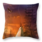 And The Home Of The Brave Throw Pillow