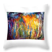 And The Light Flickers Throw Pillow