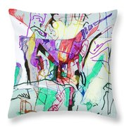 And The Man Looked In Wonderment Throw Pillow
