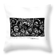 And The Spirit Fell Throw Pillow