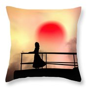 And The Sun Also Rises Throw Pillow