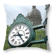 And The Time Is Throw Pillow