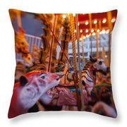 And The Zebra Is In The Lead Throw Pillow