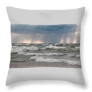 And There Was Light Throw Pillow