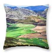 Andalucia Landscape In Spain Throw Pillow