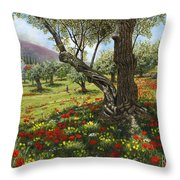 Andalucian Olive Grove Throw Pillow