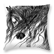 Andalusian Arabian Head Throw Pillow