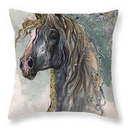 Andalusian Horse 2014 11 11 Throw Pillow