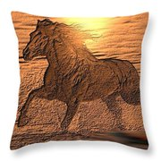 Andalusian Sunset Throw Pillow