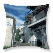 Andalusian White Village Throw Pillow