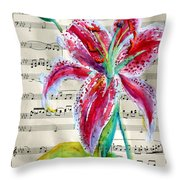 Andante Cantabile Romance  Page 64 Throw Pillow