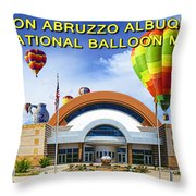 Anderson Abruzzo Albuquerque International Balloon Museum Poster Throw Pillow