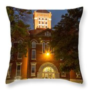 Anderson County Courthouse Throw Pillow