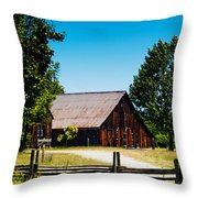 Anderson Valley Barn Throw Pillow