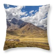 Andes Mountains - Peru Throw Pillow