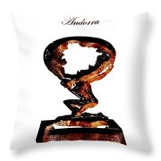 Andorra Statue Throw Pillow