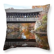 Andover Covered Bridge Throw Pillow