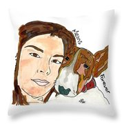 Andrea Y Dolly Throw Pillow