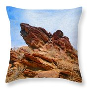 Andreas Canyon Throw Pillow