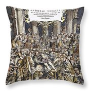 Andreas Vesalius Teaching Throw Pillow