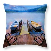 Andre's Dock Throw Pillow