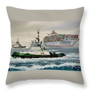 Andrew Foss Assisting Cosco Throw Pillow