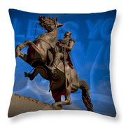 Andrew Jackson And New Orleans Saints Throw Pillow