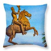 Andrew Jackson - Paint Throw Pillow
