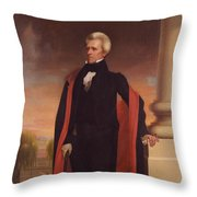 Andrew Jackson Standing Throw Pillow by War Is Hell Store