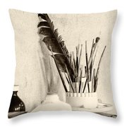 Andrew's Feather Throw Pillow
