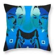 Android Twins Throw Pillow
