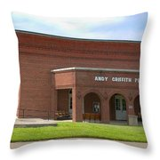 Andy Griffith Playhouse Nc Throw Pillow