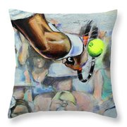 Andy Murray - Wimbledon 2013 Throw Pillow