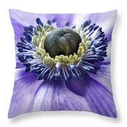 Anemone Close Up Throw Pillow