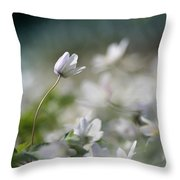 Anemone Flower Throw Pillow