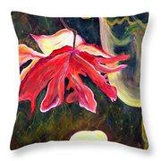 Anemone Me Throw Pillow by Jolanta Anna Karolska