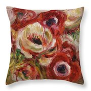 Anemones Throw Pillow