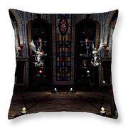 Angel And Devil Throw Pillow