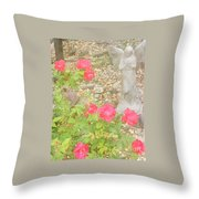 Angel And Elephant Throw Pillow
